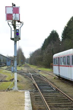 signalling device: railway, Toucy, Burgundy, France