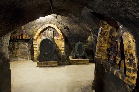 casks: wine cellar, Hort Winery, Znojmo - Dobsice, Czech Republic