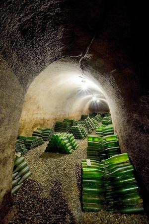 znojemsko: wine archive, Hort Winery, Znojmo - Dobsice, Czech Republic Stock Photo