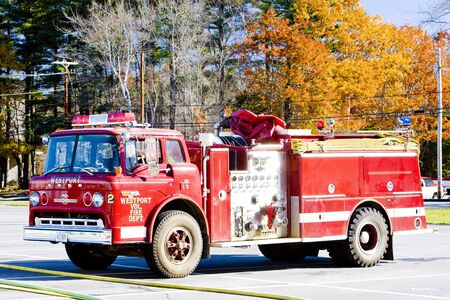 fire engine, Wiscasset, Maine, USA Stock Photo - 12287575