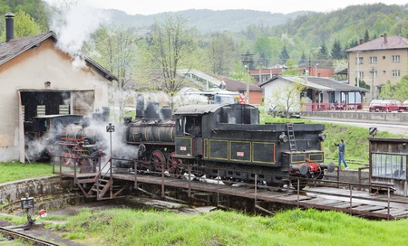 steam locomotive (126.014), Resavica, Serbia Stock Photo - 12287563