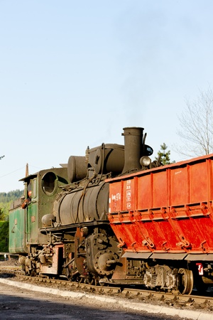 bosnia hercegovina: steam locomotive, delivery point in Oskova, Bosnia and Hercegovina