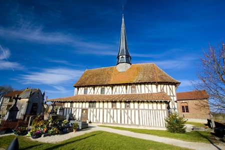 champagne region: church in Bailly-le-Franc, Champagne, France