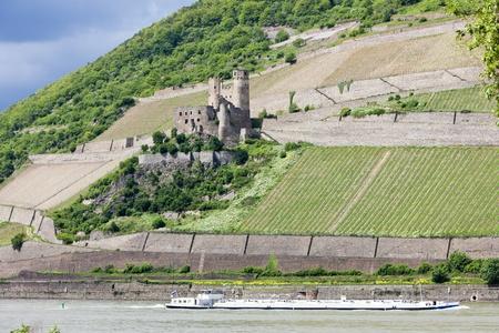 rheintal: ruins of Ehrenfels Castle, Rhineland-Palatinate, Germany Editorial