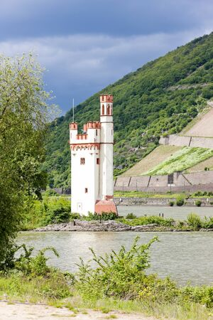 rheintal: Binger Maeuseturm, Mouse Tower on Mouse Island, Rhineland-Palatinate, Germany