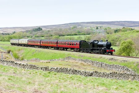 steam train, North Yorkshire Moors Railway (NYMR), Yorkshire, England Stock Photo - 12849095