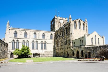 Abbaye de Hexham, Northumberland, Angleterre Banque d'images