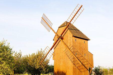 stary: wooden windmill, Stary Poddvorov, Czech Republic