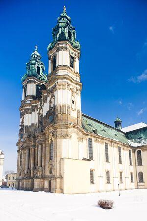 peregrinación: iglesia de peregrinaci�n en Krzeszow, Silesia, Polonia Foto de archivo