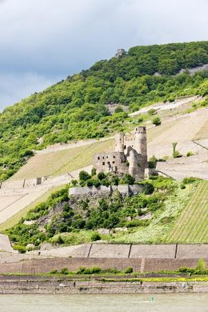 rheintal: ruins of Ehrenfels Castle, Rhineland-Palatinate, Germany Stock Photo