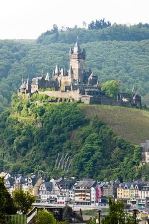 moseltal: Reichsburg Castle, Cochem, Rhineland-Palatinate, Germany Editorial