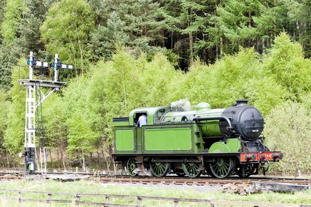 signalling device: steam train, North Yorkshire Moors Railway (NYMR), England