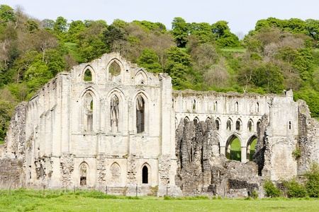 yorkshire and humber: ruins of Rievaulx Abbey, North Yorkshire, England