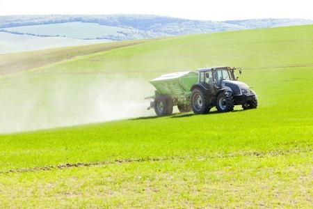 tractor on field, Czech Republic photo