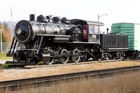 steam locomotive in Railroad Museum, Gorham, New Hampshire, USA