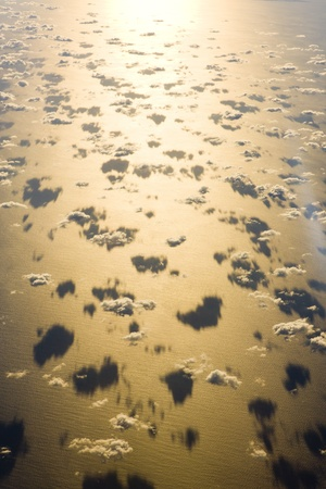 clouds above ocean - view from plane Stock Photo - 13185327