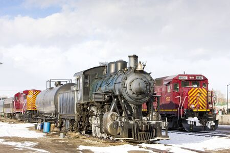 locomotives at railway station of Alamosa, Colorado, USA Stock Photo - 13182360