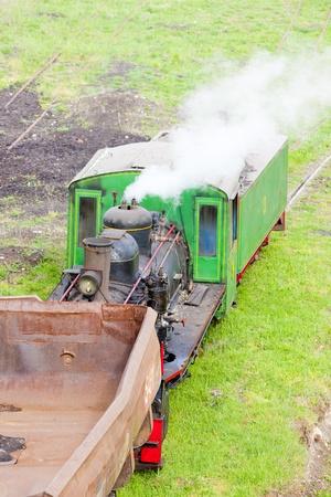 kostolac: steam freight train, Kostolac, Serbia Editorial