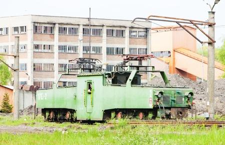kostolac: electric locomotive, Kostolac, Serbia Editorial
