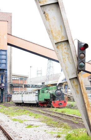 steam freight train, Kolubara, Serbia Stock Photo - 13182390
