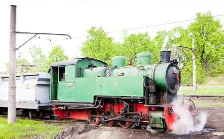 former yugoslavia: steam locomotive, Kolubara, Serbia