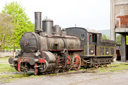 steam locomotive (126.014), Resavica, Serbia Stock Photo - 13182398