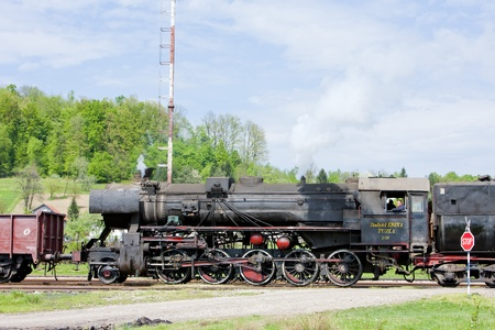 yugoslavia federal republic: steam locomotive in Tuzla region, Bosnia and Hercegovina Editorial