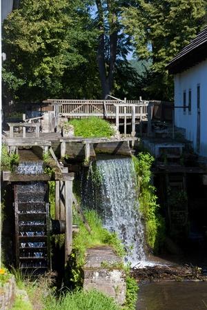 mill valley: water mill, Ratiborice, Czech Republic Stock Photo