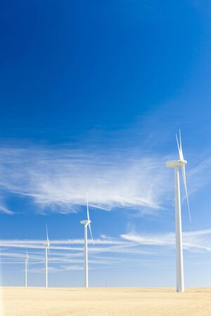 wind turbines, Castile and Leon, Spain Stock Photo - 13183257