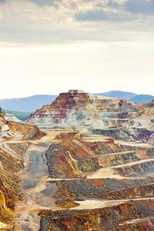 copper background: copper mine, Minas de Riotinto, Andalusia, Spain Stock Photo
