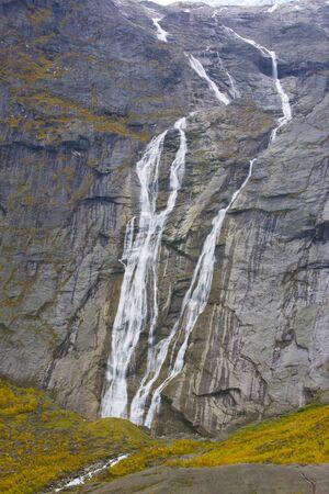falltime: landscape near Melkevollbreen Glacier, Jostedalsbreen National Park, Norway