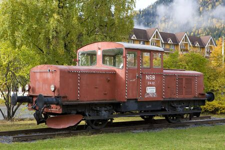 falltime: former railway station, Fagernes, Norway