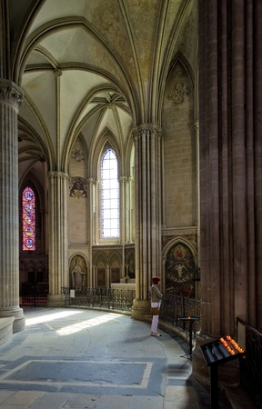 basse normandy: interior of Cathedral Notre Dame, Bayeux, Normandy, France