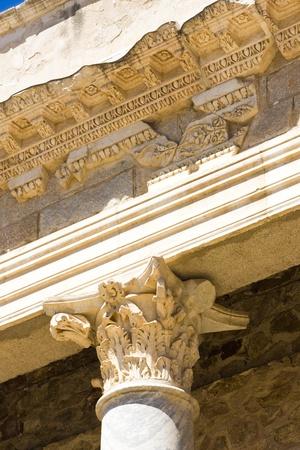 detail of Roman Theatre, Merida, Badajoz Province, Extremadura, Spain Stock Photo - 13512823