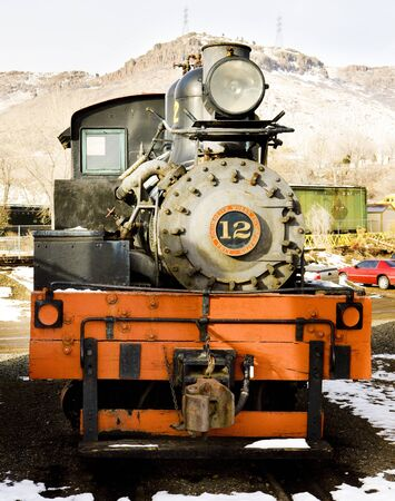 steam traction: stem locomotive in Colorado Railroad Museum, USA