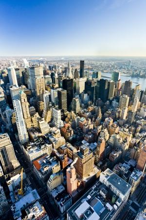 Vue de Manhattan depuis l'Empire State Building, New York City, USA