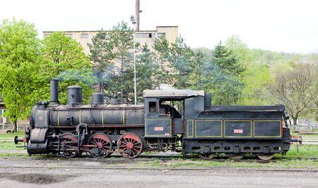 former yugoslavia: steam locomotive (126.014), Resavica, Serbia
