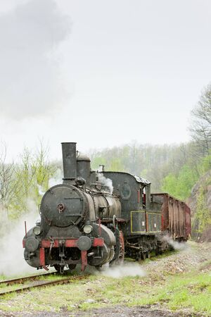 steam freight train (126.014), Resavica, Serbia Stock Photo - 13512783