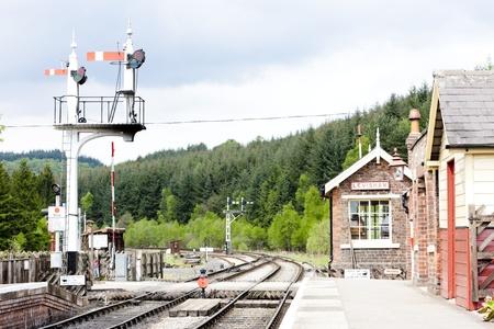 signalling device: Levisham, North Yorkshire Moors Railway (NYMR), England Editorial