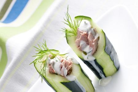 tuna salad in cucumber Stock Photo - 13523481