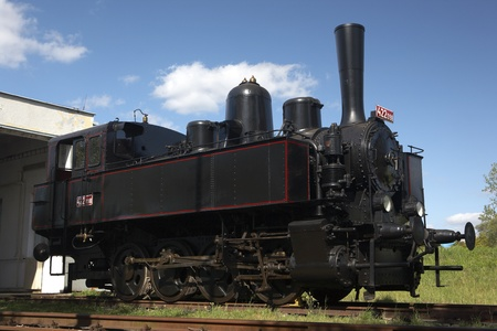 traction engine: steam locomotive (422.098), Museum KHKD, Knezeves, Czech Republic
