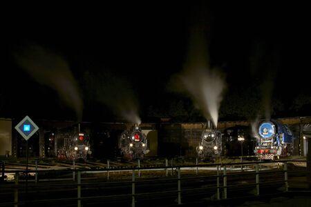 steam traction: Railway Museum, Luzna u Rakovnika, Czech Republic