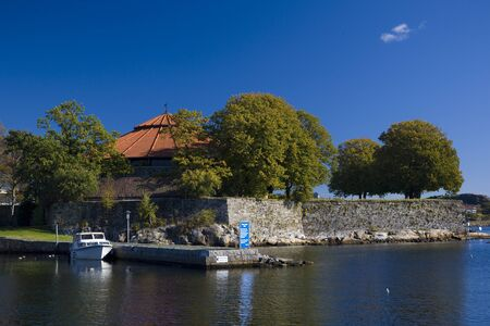 kristiansand: harbour of Kristiansand, Norway