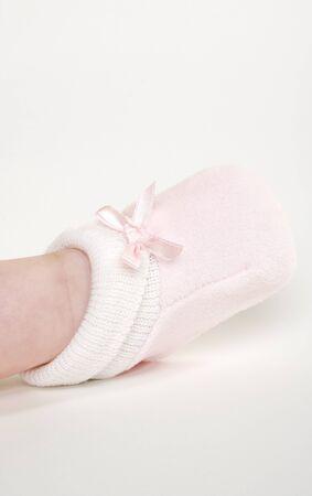 footgear: babys foot Stock Photo