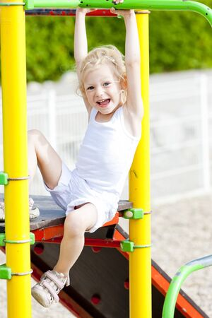 little girl at playground photo