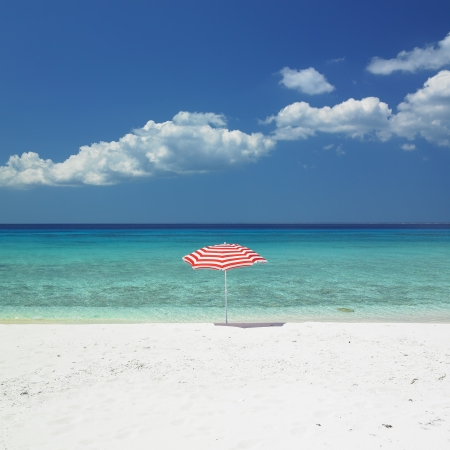sunshade, Maria la Gorda Beach, Pinar del Rio Province, Cuba photo