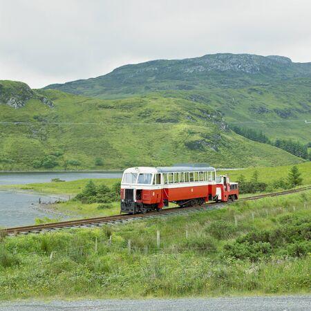 narrowgauge: narrow gauge railway, Fintown, County Donegal, Ireland Stock Photo