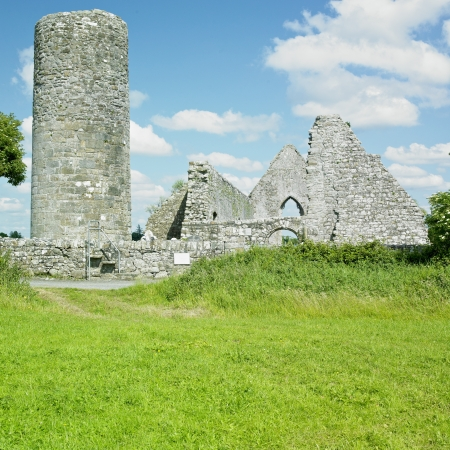 friaries: ruins of Drumlane Monastery, County Cavan, Ireland Stock Photo
