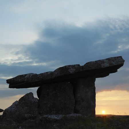 Poulnabrone Dolmen, Burren, County Clare, Ireland Stock Photo - 13892868