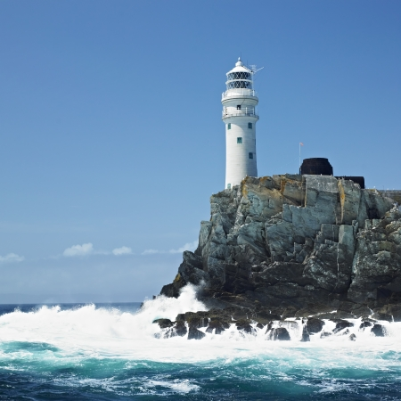 lighthouse, Fastnet Rock, County Cork, Ireland 스톡 콘텐츠